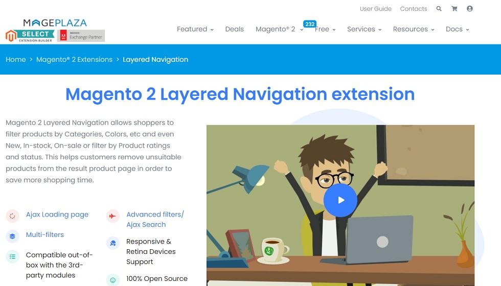 Magento 2 Layered Navigation extension